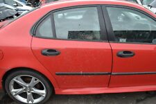 2007 SAAB 9 3 VECTOR DRIVERS SIDE RIGHT HAND REAR DOOR  LASER RED  CODE 278