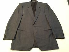 Canali Milano 42L Gray Plaid Check Sport Coat Wool Silk Italy