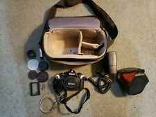 Nikon Em 35mm Film Camera Slr Body W/lens 50mm, Case, Flash, Accessories
