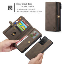 PU Leather Multi-Card Wallet 2in1 Case For iPhone 11 Max SE 2020 Samsung S20+ 5G
