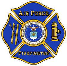 "U.S. Air Force Firefighter 4"" Window Decal/Sticker"