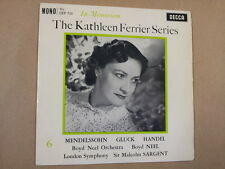 7' single The KATHLEEN FERRIER Series No 6 Decca CEP724