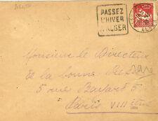LETTRE CACHET DAGUIN ALGER ALGERIE  1933 POUR PARIS