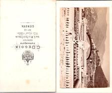 Italie, Italia, Gênes, Genova, Cimetière monumental de Staglieno, circa 1870 Vin