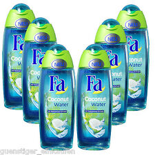 (12,40€/L) 6x 8.5oz Fa Coconut Water Shower gel with Coconut Extract fresh NEW
