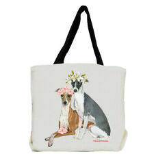 Italian Greyhound Dog with Flowers Tote Bag