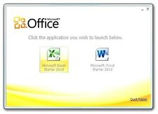 MICROSOFT OFFICE 2010 STARTER WORD 2010 EXCEL WINDOWS 7,8,10