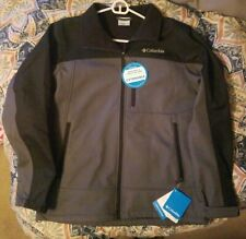 Columbia Mens Medium Black/Graphite Smooth Spiral Softshell Jacket Brand New