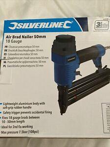 Silverline Air Brad Nailer 50mm 18 Gauge