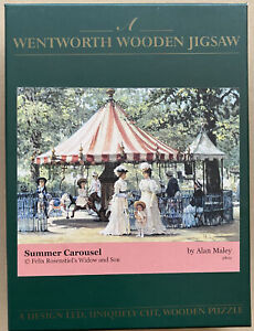 """WENTWORTH """"Summer Carousel"""" 140 piece Wooden JIGSAW PUZZLE Whimsy"""