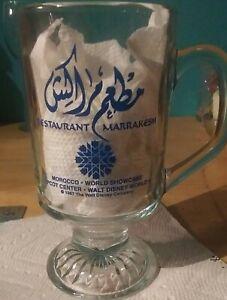 Marrakesh Restaurant crystal Souvenir Glass Epcot Center Walt Disney World 1987