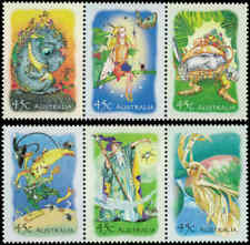 2002 AUSTRALIA Magic Rainforest (6) MNH