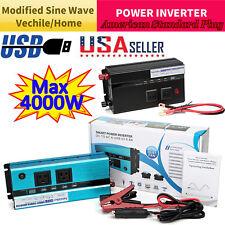 Power Inverter 5000W-2000W 12V To 110V 120V Converter 4 USB Invertor Car Caravan