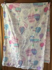 Pottery Barn Kids Hot Air BALLOON Organic Cotton Flat Sheet TWIN