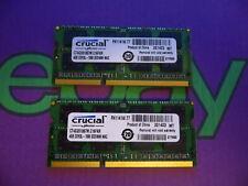 Crucial 8GB 2 X 4GB PC3L 1066 8500 DDR3L Sodimm Mac Laptop RAM Memory 2x4096MB