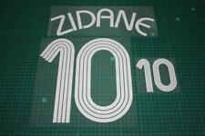 Flocage de ZIDANE pour maillot équipe de France bleu 2006 patch shirt /.