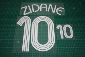 Flocage de ZIDANE pour maillot équipe de France bleu 2006 patch shirt
