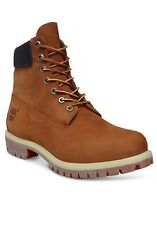 Timberland Icon 6 inch Premium Boots Waterproof Nubuck Leather Shoe Rust Orange