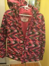 Trilogy Powder Room Women's Snowboard Jacket Recco System Size Small Pink/Gray