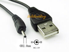 USB A Male to 0.6 x 2.0mm Small Pin Plug 5V DC Power Charger Cable For Nokia