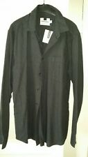 Mens Top Man charcoal grey Shirt. Size M