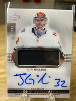 Jon Gillies Premier Rookie Auto Patch 2017-18 Upper Deck Calgary Flames /299