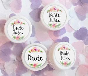 Bride Tribe Floral Wreath Lip Balm Present GIFT Idea Wedding Hen Party UK Made