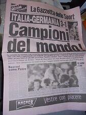 GAZZETTA DELLO SPORT 12-07-1982 ITALIA CAMPIONE DEL MONDO 1982 ITALIA-GERMANIA *