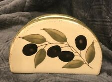 New listing Ceramic Napkin Holder - Olive Branch Design