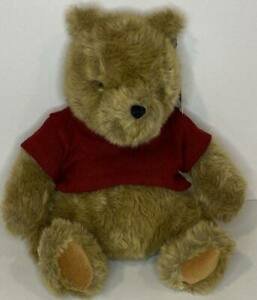 Gund Classic Winnie the Pooh Plush Brown Furry Bear Red Sweater NWT