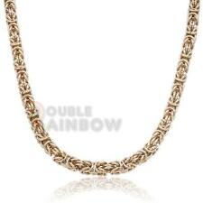 """C12 18""""Men stainless steel Gold 8mm BALI Byzantine Vintage necklace chain Link"""