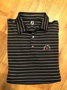 Footjoy Mens Berry Hills Golf Club Long Sleeve Polo Shirt Striped Size XXL 2XL