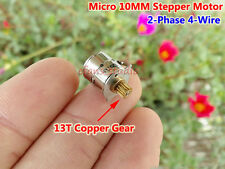 2-phase 4-wire Micro 10MM Stepper Motor Mini step motor with 13T Copper Gear DIY
