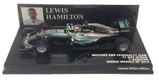 Minichamps MERCEDES W07 vincitore GP di Monaco 2016-LEWIS HAMILTON SCALA 1/43