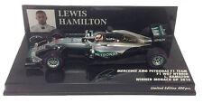 Minichamps Mercedes W07 Winner Monaco GP 2016 - Lewis Hamilton 1/43 Scale