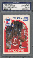 1989/90 Hoops #159 Patrick Ewing PSA/DNA Certified Authentic Auto *9919