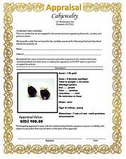 GENUINE 1.52 Cts AMETHYST STUD EARRINGS 14K GOLD *** Free Appraisal Service ***