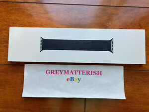 SEALED Genuine BLACK size 8 BRAIDED SOLO Loop *CHARCOAL*44mm for Apple Watch sz8