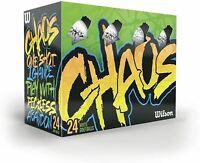 Wilson Chaos Golfbälle (Packung 24)