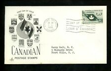 Postal History Canada Fdc #437 Art Craft Ayerst Labs Cooperation Year 1965