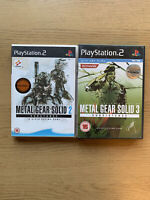 Metal Gear Solid 2 Substance & MGS 3 Subsistence *CIB* - Sony PS2 Playstation 2
