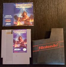 Iron Sword Wizards & Warriors II nes 1989 Great Condition w Manual