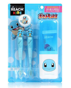 Pokemon Squirtle Reach Kids Toothbrush 5 Pieces Set for Mobile Limited Edition