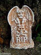 "plaster concrete free standing mini Tombstone gargoyle plastic mold 6""H x 4""W"