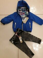 RIVER ISLAND & M&S BABY BOYS REVERSIBLE JACKET AND JEANS 3/6 MONTHS BNWT
