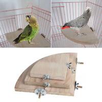 Pet Bird Parrot Wooden Platform Stand Rack Hang Toy Hamster Perches Bird Cage