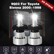 2Pcs H4 9003 Led Headlight Kit Bulbs Hi-lo Beam For Toyota Sienna 2000-1998