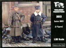 Verlinden Productions 1:35 Wwii Soviets - 2 Resin Figures Kit #2013