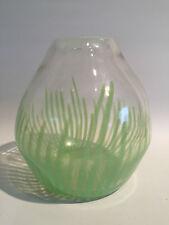 Design Glas Vase Grüne Streifen Murano? Skandinavien?