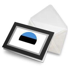 Greetings Card (Black) - Estonia Europe Tallinn Flag Birthday Gift #9109